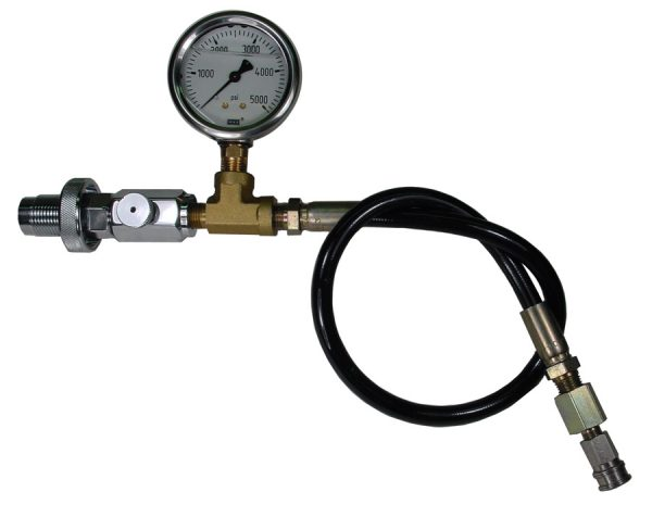 Paintball to DIN adapter with gauge and 15 inch hose