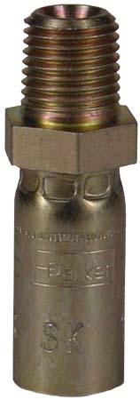"1/4"" Male Pipe High Pressure Hose End"