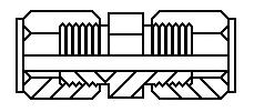 "1/4"" tube x 1/4"" tube union"