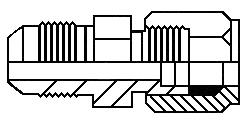 """1/4"""" tube x #4 JIC male union adapter"""