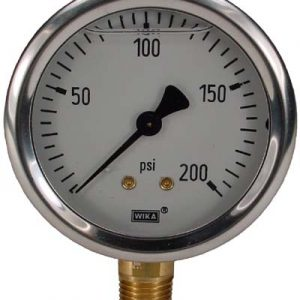 Line Mount 0-200 psi Gauge