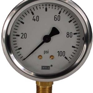 Line Mount 0-100 psi Gauge
