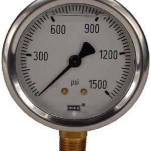 Line Mount 0-1500 psi Gauge