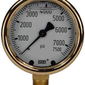 Line Mount 0-7500 psi Gauge
