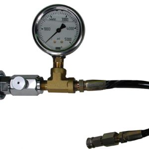 "Paintball to DIN adapter with gauge and 15"" hose"
