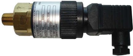Pressure switch, 360 to 1,700 psi, DIN Electrical connection