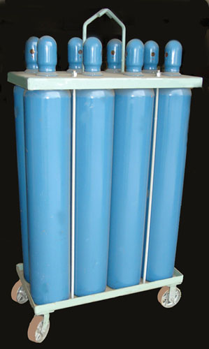 6 Cylinder Mobile Rack