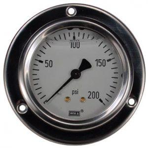 Panel Mount 0-200 psi Gauge