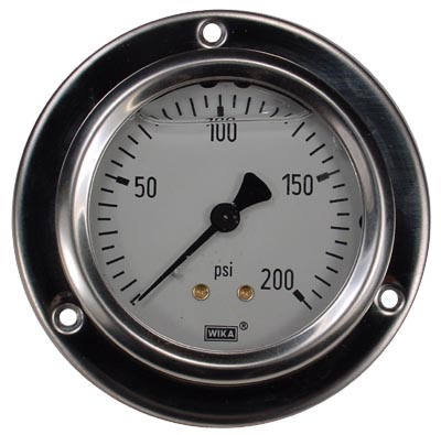 Panel Mount 0-200 psi Gauge