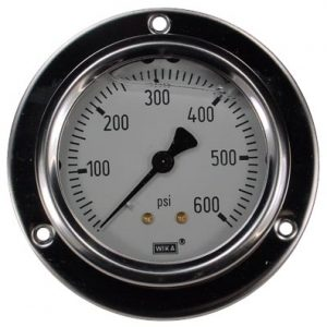 Panel Mount 0-600 psi Gauge