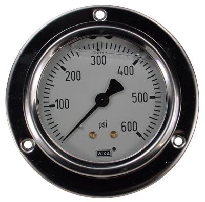 Panel Mount 0-600 psi Gauge