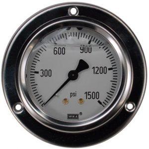 Panel Mount 0-1500 psi Gauge